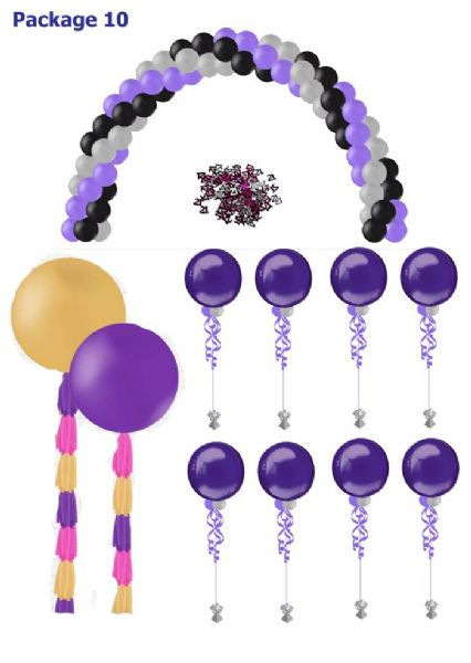 Balloon Package 10:  Ideal for a Corporate event - Wedding or Prom